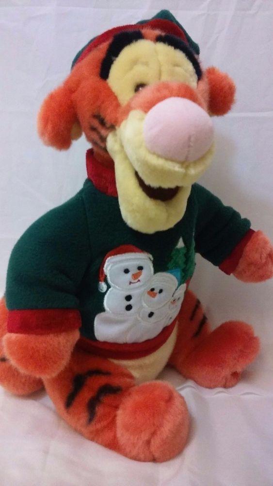 Christmas Holiday Tigger Plush Snowman Sweater Toy Disney