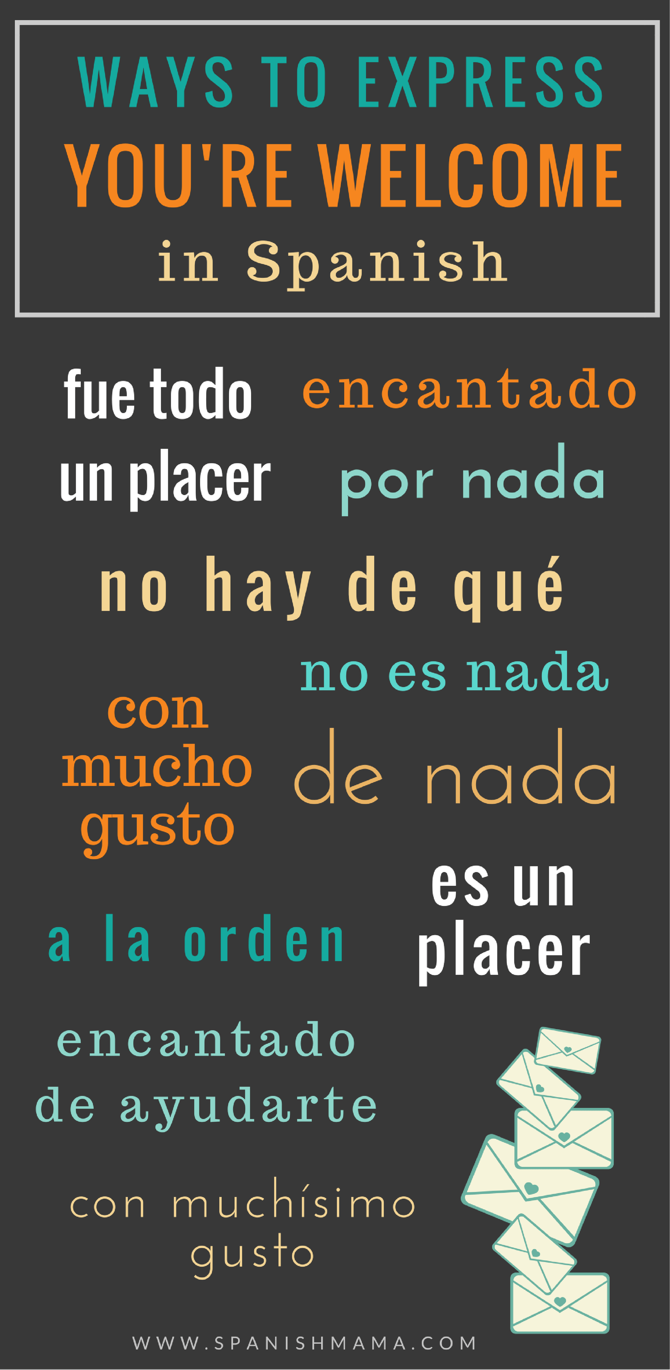 You Re Welcome In Spanish Spanish Teaching Resources Happy Thanksgiving In Spanish Spanish Language