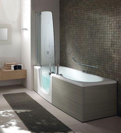 Resultado de imagen de ducha ba era ba os pinterest - Cuartos de bano con banera y ducha ...