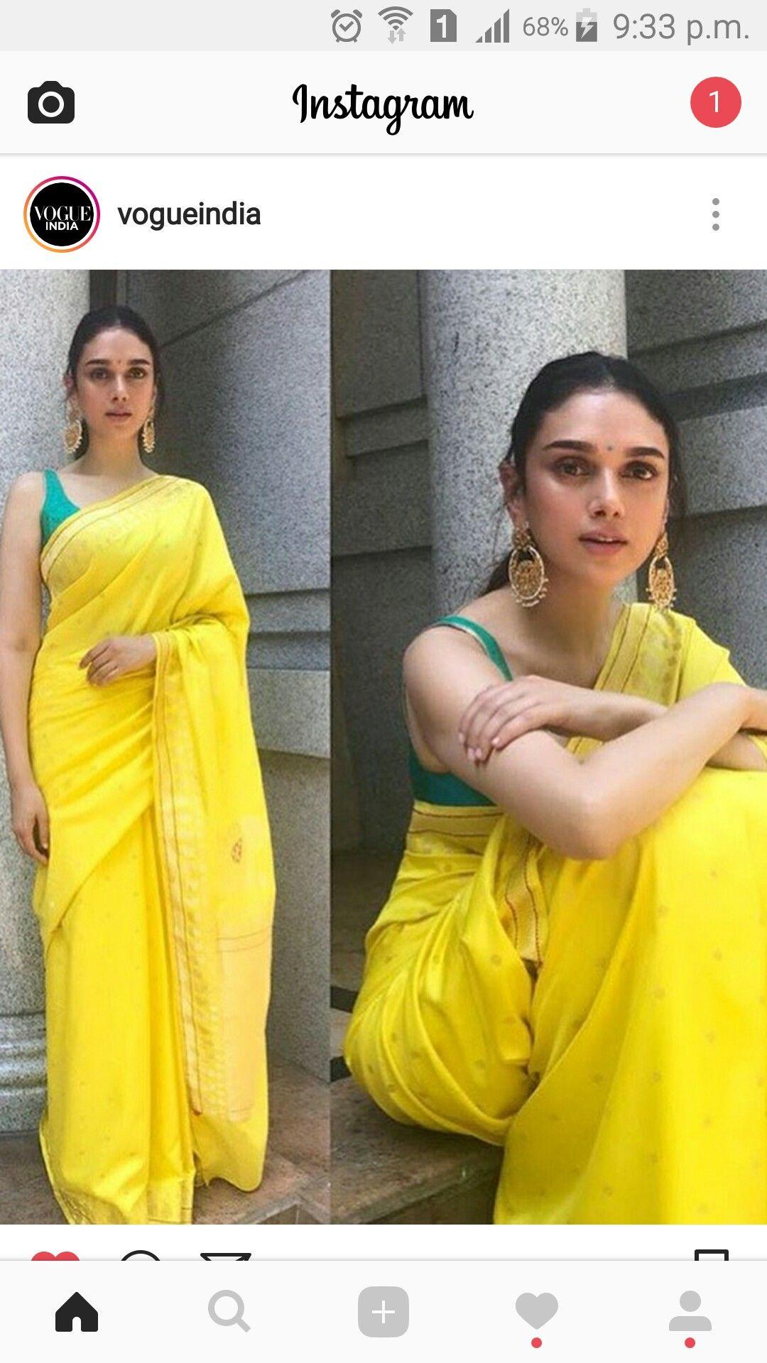 73d1b104b5205 Lemon saree Aditi Rao Hydari