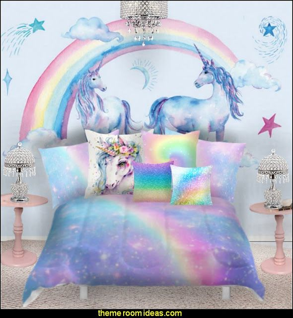 Rainbow Unicorn Bedroom Decor Unicorn Bedding Unicorn Decor