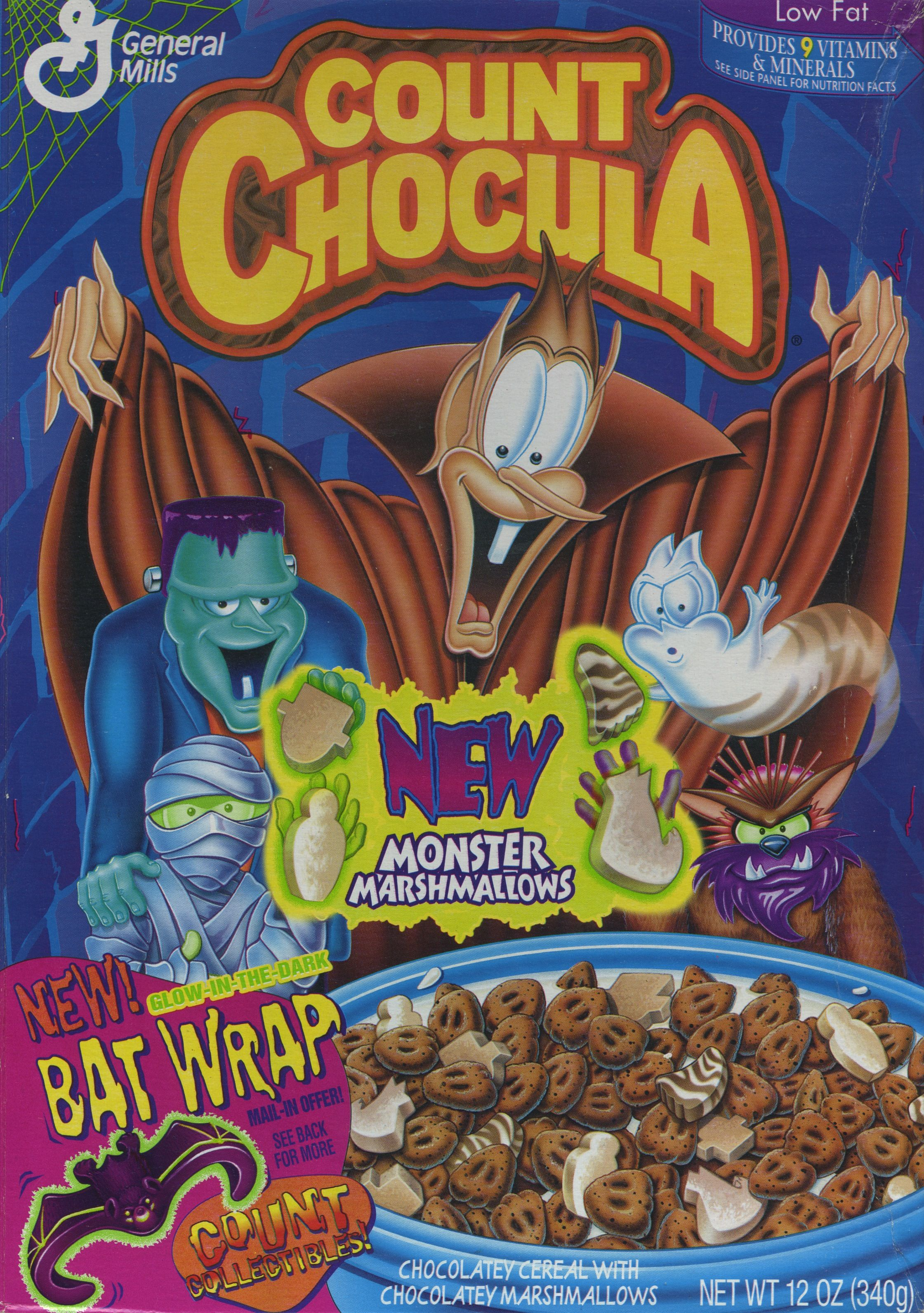 Count Chocula 1996 C General Mills Boo Berry Cereal Halloween