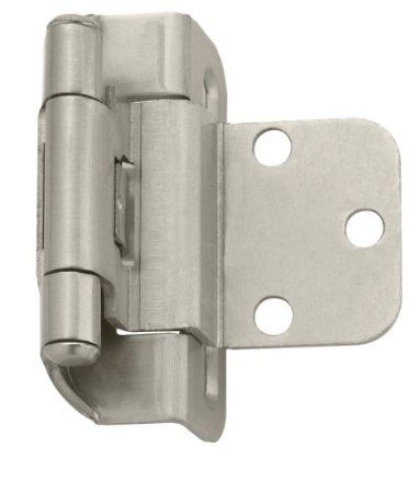 Amerock Bp7565 G10 Self Closing Partial Wrap 3 8 Inch Inset Hinge Satin Nickel Amazon Com I Bought 28 Hinges Inset Hinges Amerock Hinges