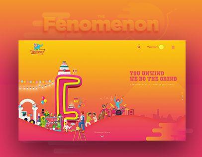 다음 @Behance 프로젝트 확인: \u201cThe Fenomenon - Website Design\u201d https://www.behance.net/gallery/49140493/The-Fenomenon-Website-Design
