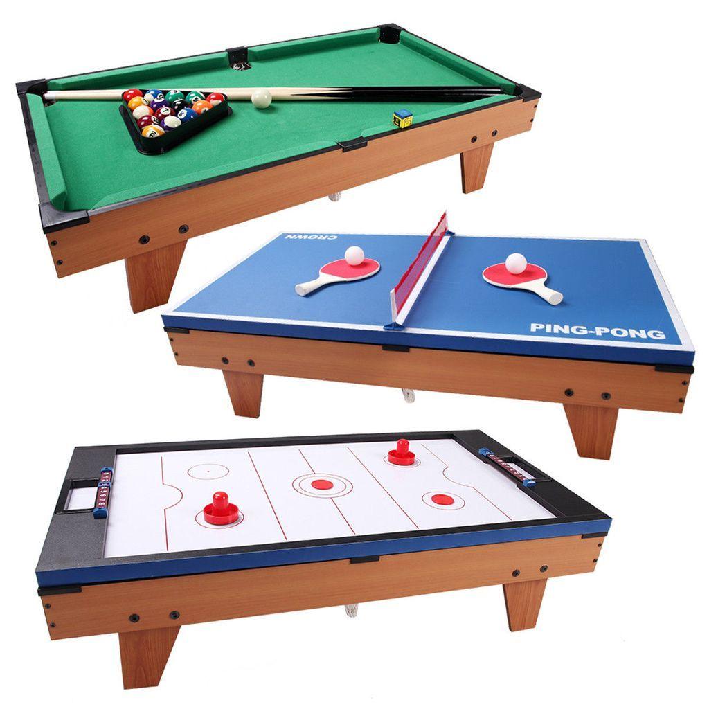 Multi Table Game 3 In 1 Air Hockey Tennis Billiard Pool Table