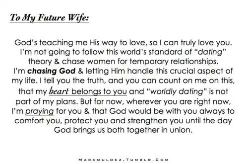 To my future husband    #god #quotes I'm waiting and praying