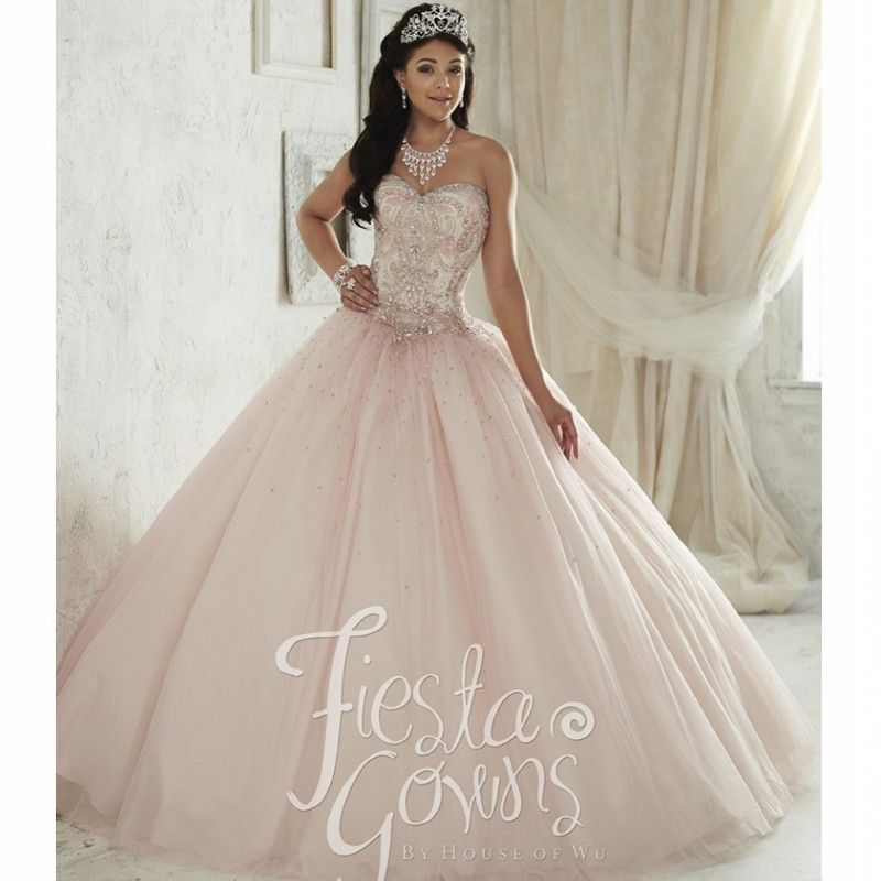 Beautiful Light Pink Quinceanera Dress 2016 Vestido de 15 nos ...