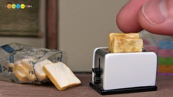 How To Make a Miniature Pop-Up Toaster #dollhouseminiaturetutorials