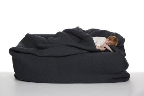 Enjoyable Bean Bag Bed With A Built In Blanket And Pillow Cool Pabps2019 Chair Design Images Pabps2019Com