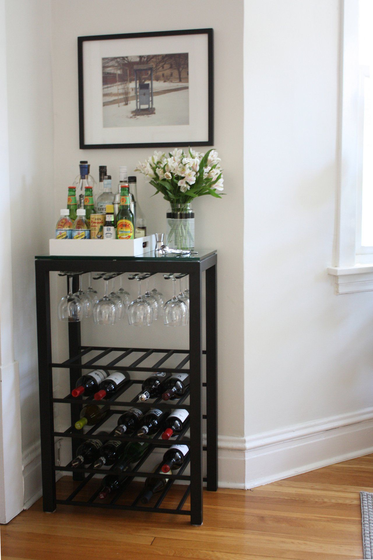 Modern Wine Rack Bar