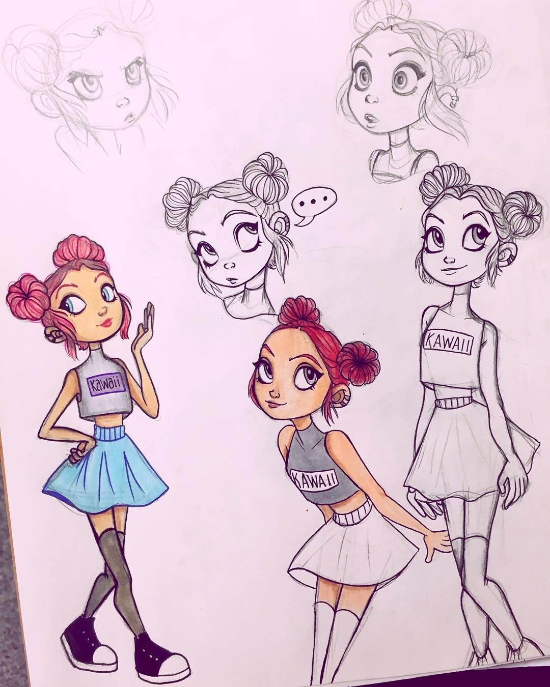a more detailed version of my paper animation character for today s