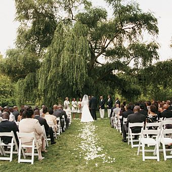 Outdoor Wedding Ceremony Under A Willow Tree My Dream Came True Pinterest And Weddings