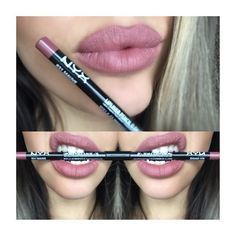 slim lip pencil  skin makeup kylie jenner lips nyx slim