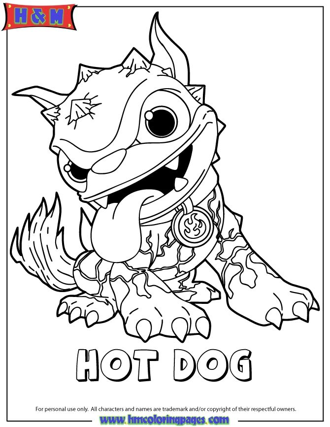Printable Skylander Coloring Pages Free Skylanders