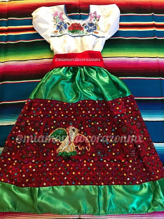 China Poblana Mexican Outfit Baby Cinco De Mayo Day Of The