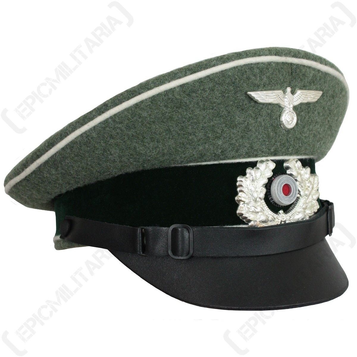 4657fb8af14 German Army Heer NCO Visor Cap