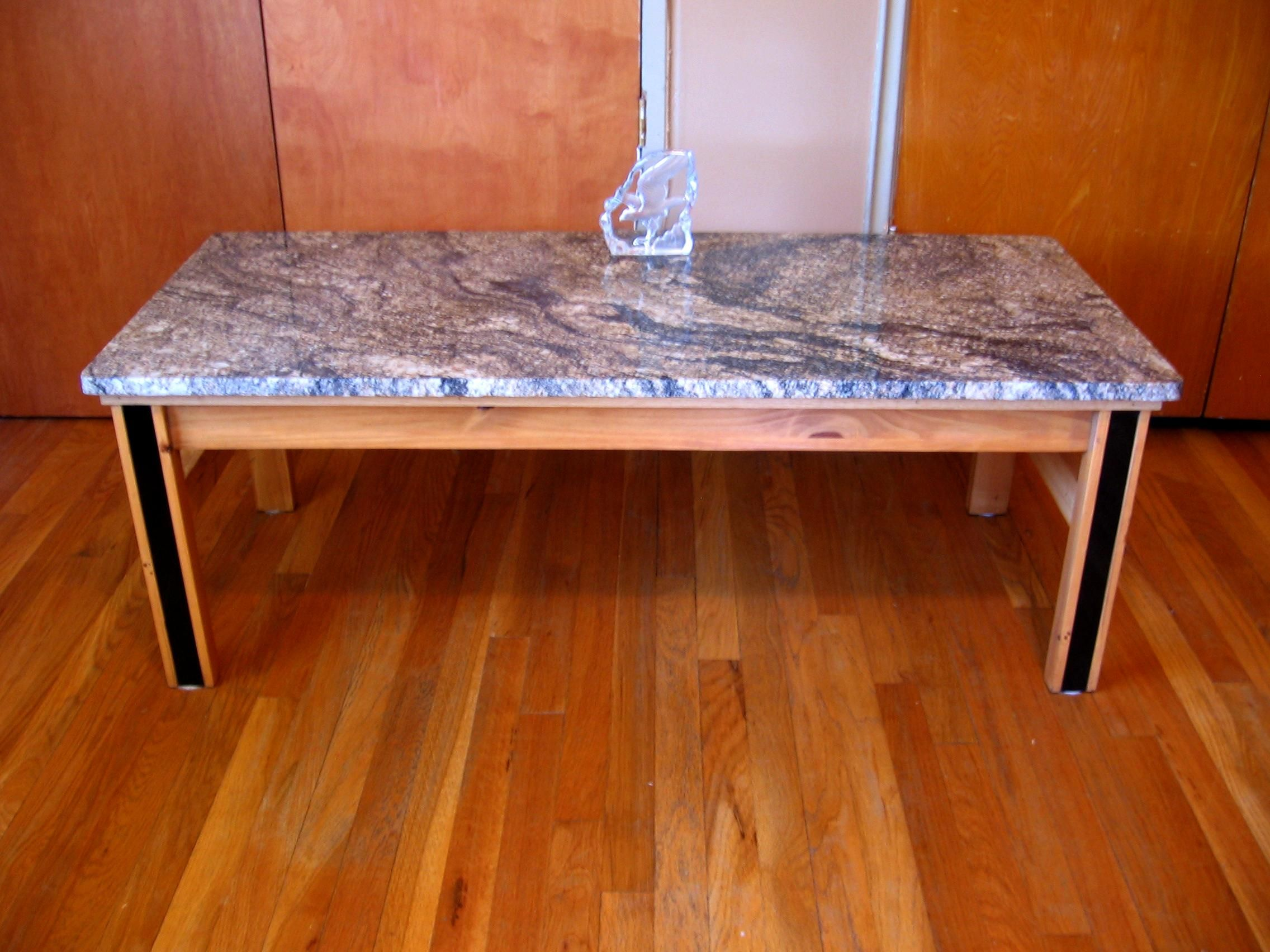 You can use our Instant Granite to reface an old Coffee Table