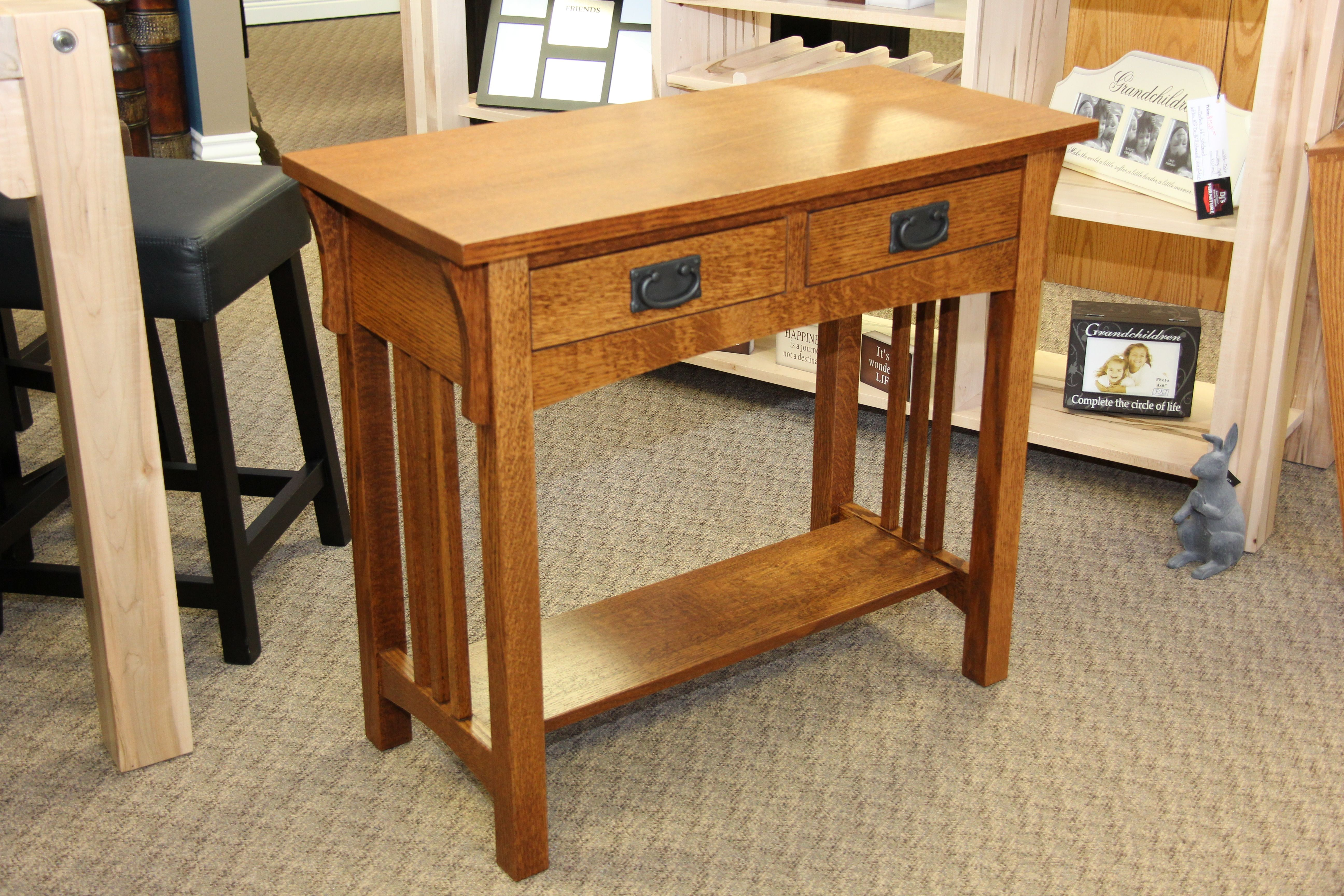 Dj S Handcrafted Solid Wood Furniture Mission Style Furniture Hall Table Solid Wood Furniture