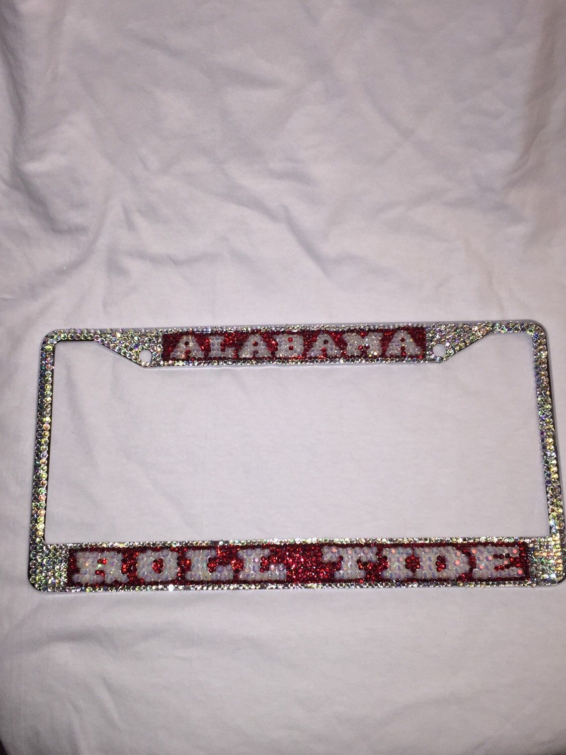 University Alabama roll tide bling license plate frame | Bling ...