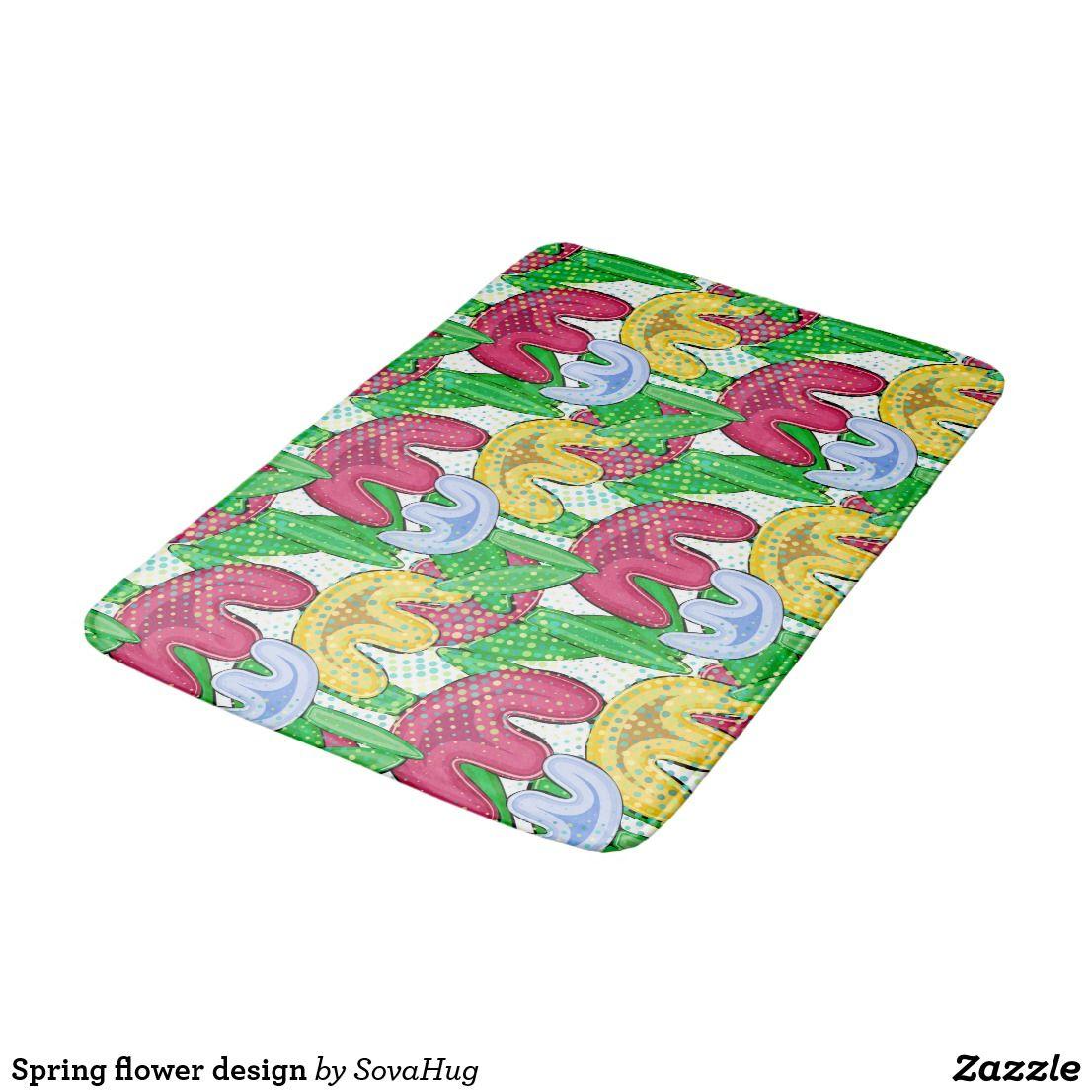 Spring Flower Design Bath Mats Cool Pinterest Bath Mat Flower
