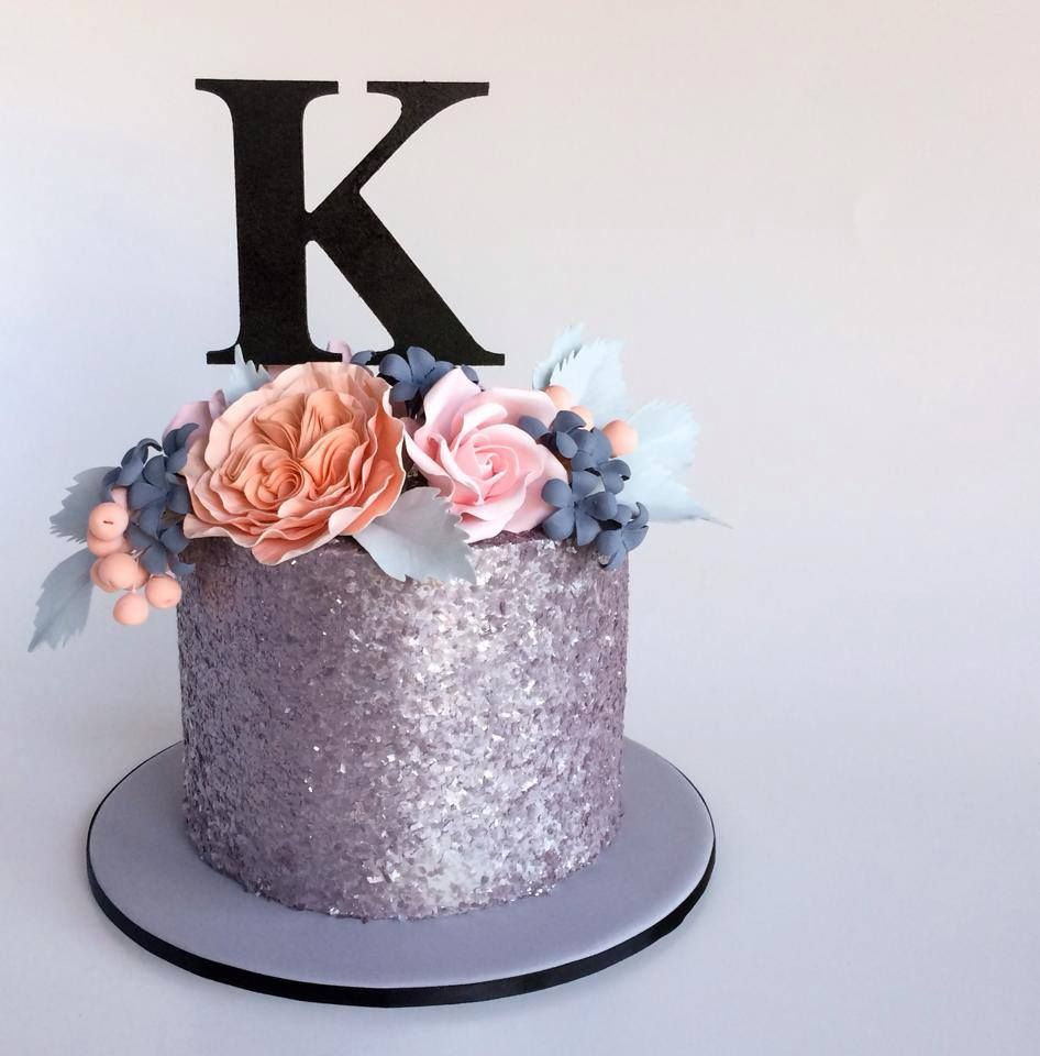 Gorgeous Completely Edible Glitter Cake With Gorgeous Sugar