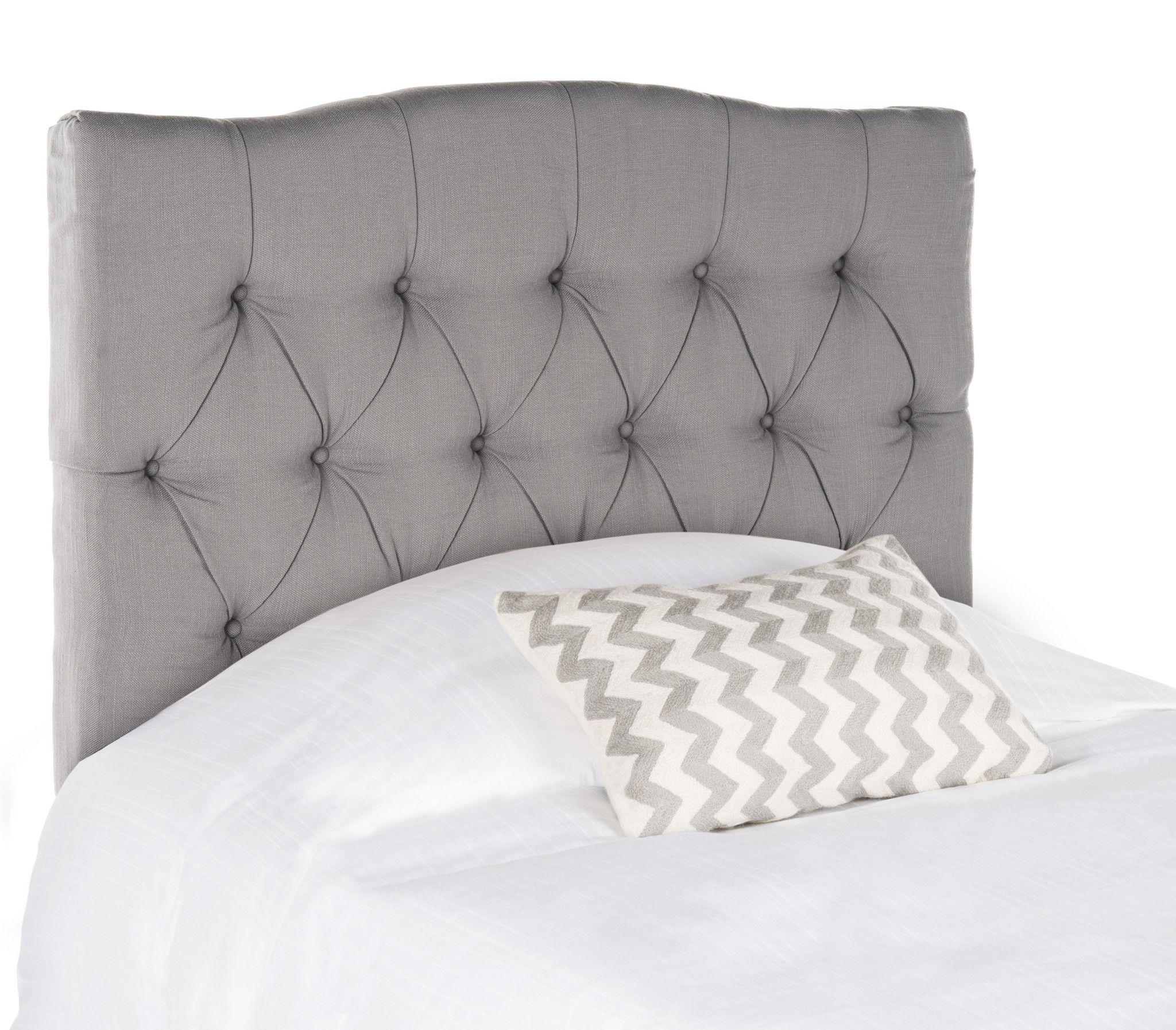Axel Arctic Grey Tufted Headboard Twin Tufted Upholstered Headboard Grey Tufted Headboard Bedroom Headboard