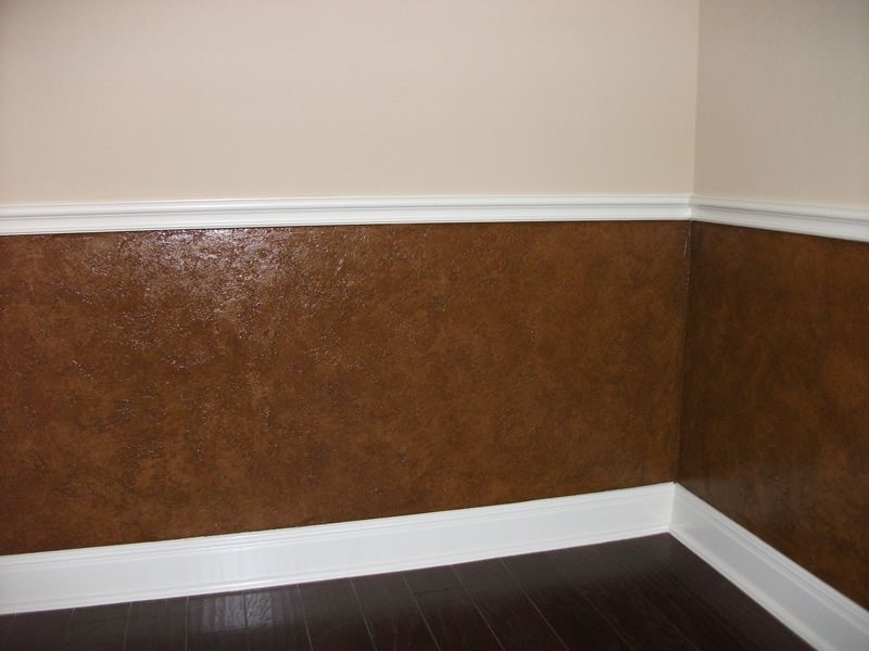 Leather Texture Faux Finish After1 Leather Wall Faux