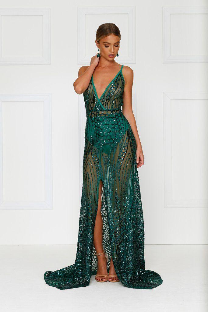 Cristal Gown - Emerald PREORDER bb5b5dd66a0c