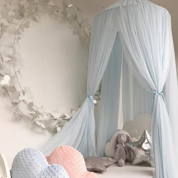 Kids Baby Bedcover Bed Canopy Mosquito Net Tent Cotton Curtain Bedding Dome Gift