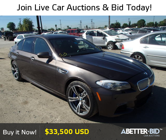 Salvage 2013 BMW M5 For Sale
