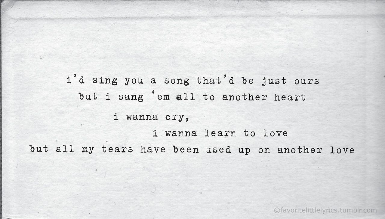 Tom Odell Another Love With Images Another Love Lyrics