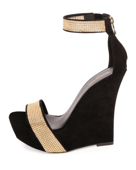 f5d2d47e7de Samara Crystal Platform Wedge 175mm Sandals Black | zapatos dama ...