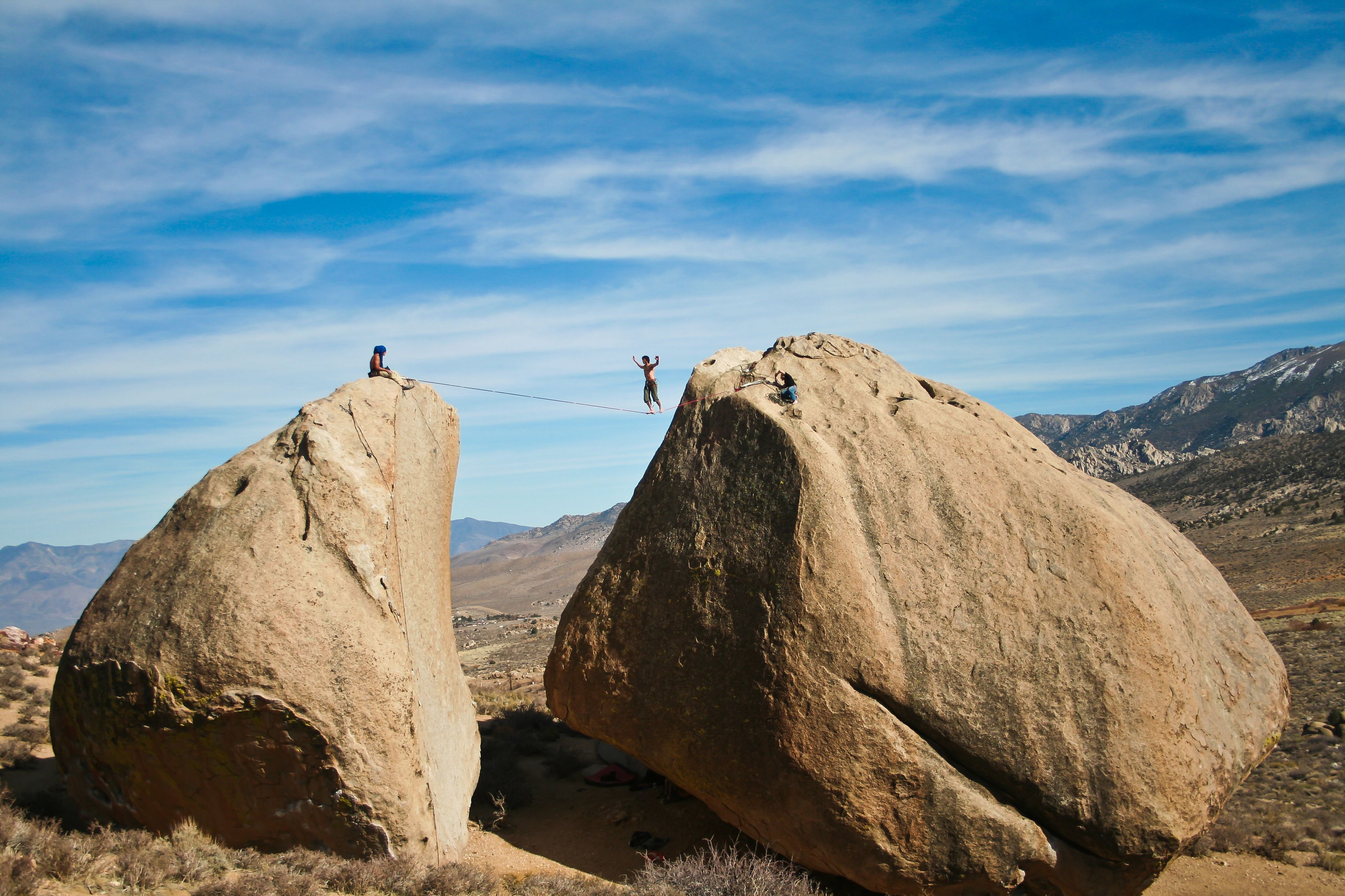 Bishop. Buttermilks Area. Climb Bouldering Monument Valley Climbing