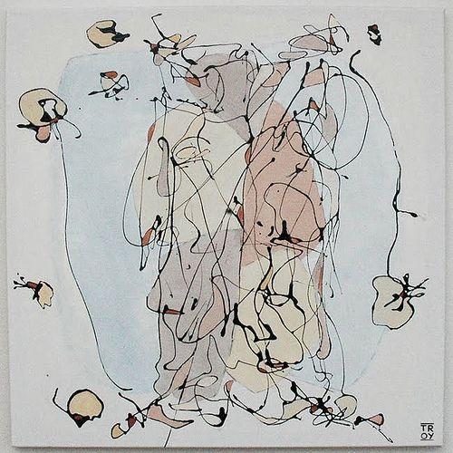 Artéfact, N°240 oil and acrylic painting
