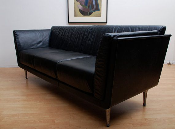Goetz Leather Sofa for Herman Miller Mid Century by AMBIANIC, $2100.00