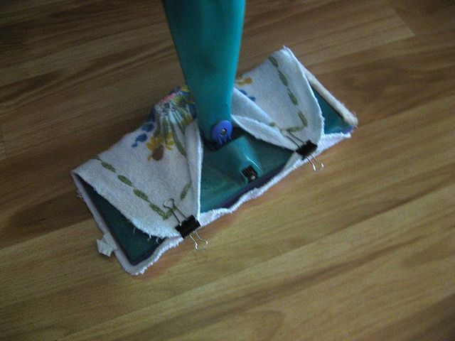 Use Old Washcloths Or A Scrap Of Fleece On Your Swiffer