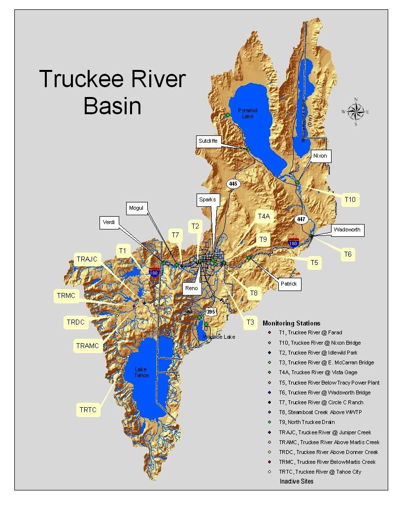 Map 31 Texas River Basins.Truckee River Basin Map Nevada My State In 2019 Truckee River