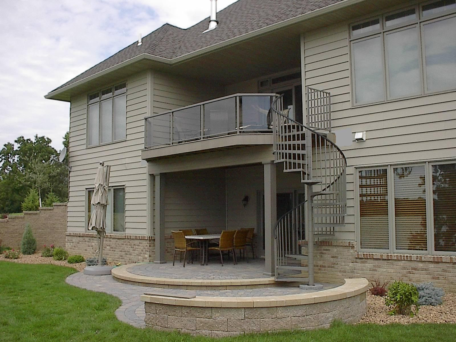 Superb Outdoor+Spiral+Deck+Stairs | ... Staircases | Aluminum Spiral Staircase