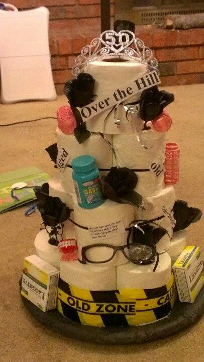 Made this toilet paper cake for a friend #moms50thbirthday