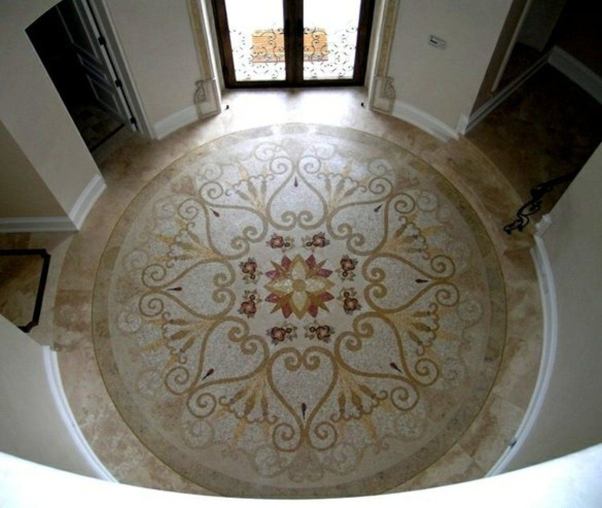 Beautiful Mosaic Tile Medallion On The Floor By Designer Mozaico