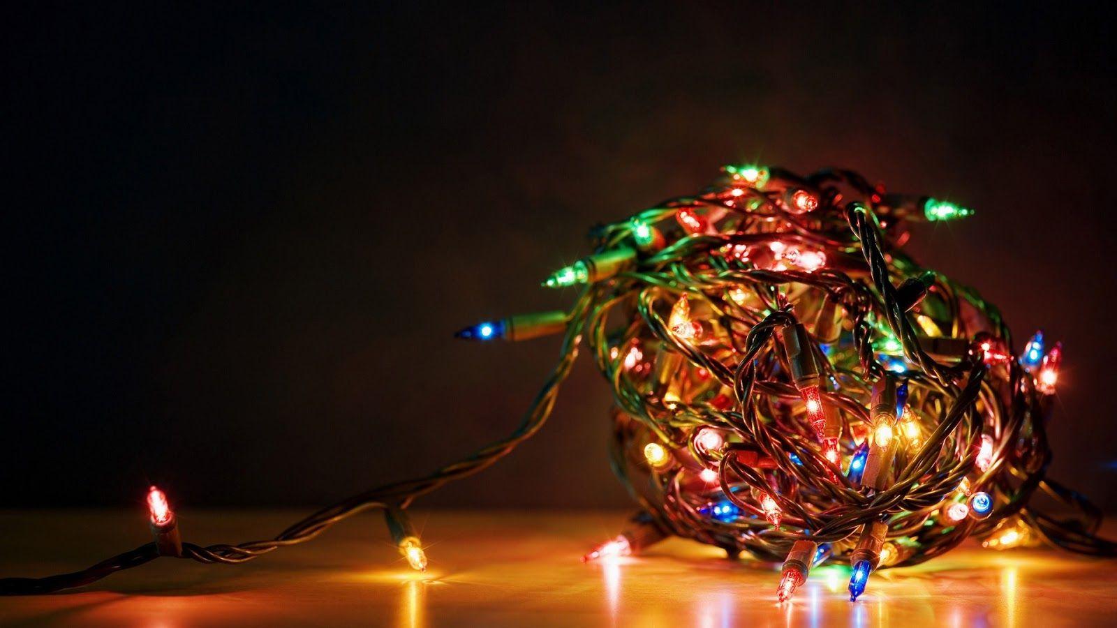 Dual Monitor Wallpaper Christmas Lights
