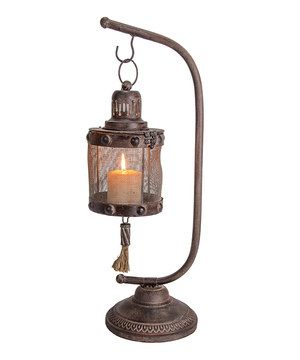 """23""""T & 7""""D Place a candle inside of this lantern to light up a room in an incredibly charming way. The rustic design will look great next to existing décor and is sure to catch the eye of friends and family."""