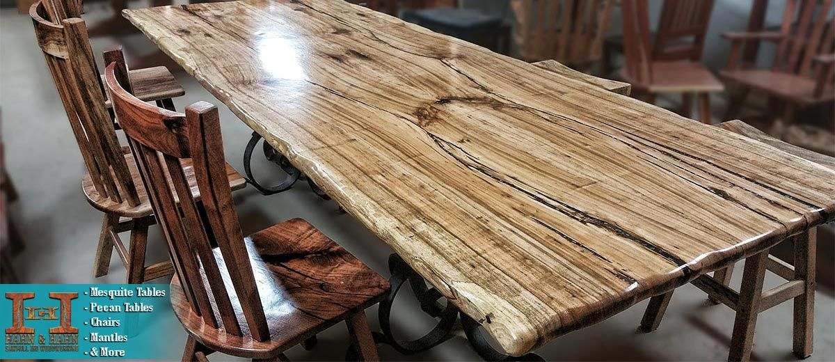 Superieur Pecan Wood Table With Topaz Created By Hahn U0026 Hahn Sawmill And Woodworking  In The Austin Area