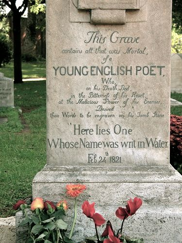 Image result for keats grave