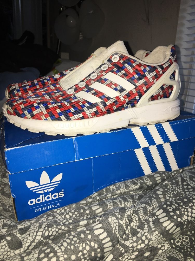 bdf963774 Size 5 Womens Adidas ZX Flux K (Red White and Blue)  fashion  clothing   shoes  accessories  womensshoes  athleticshoes (ebay link)