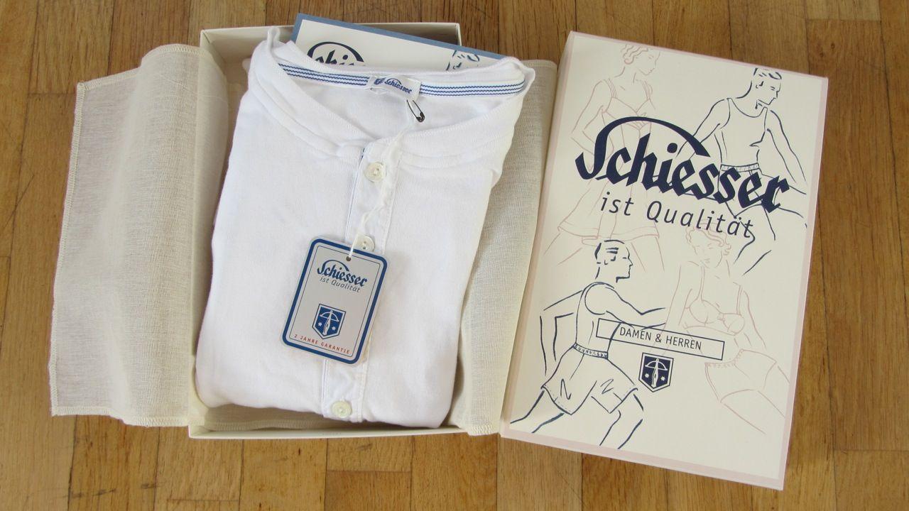Schiesser Revival White Shorts Karl-Heinz