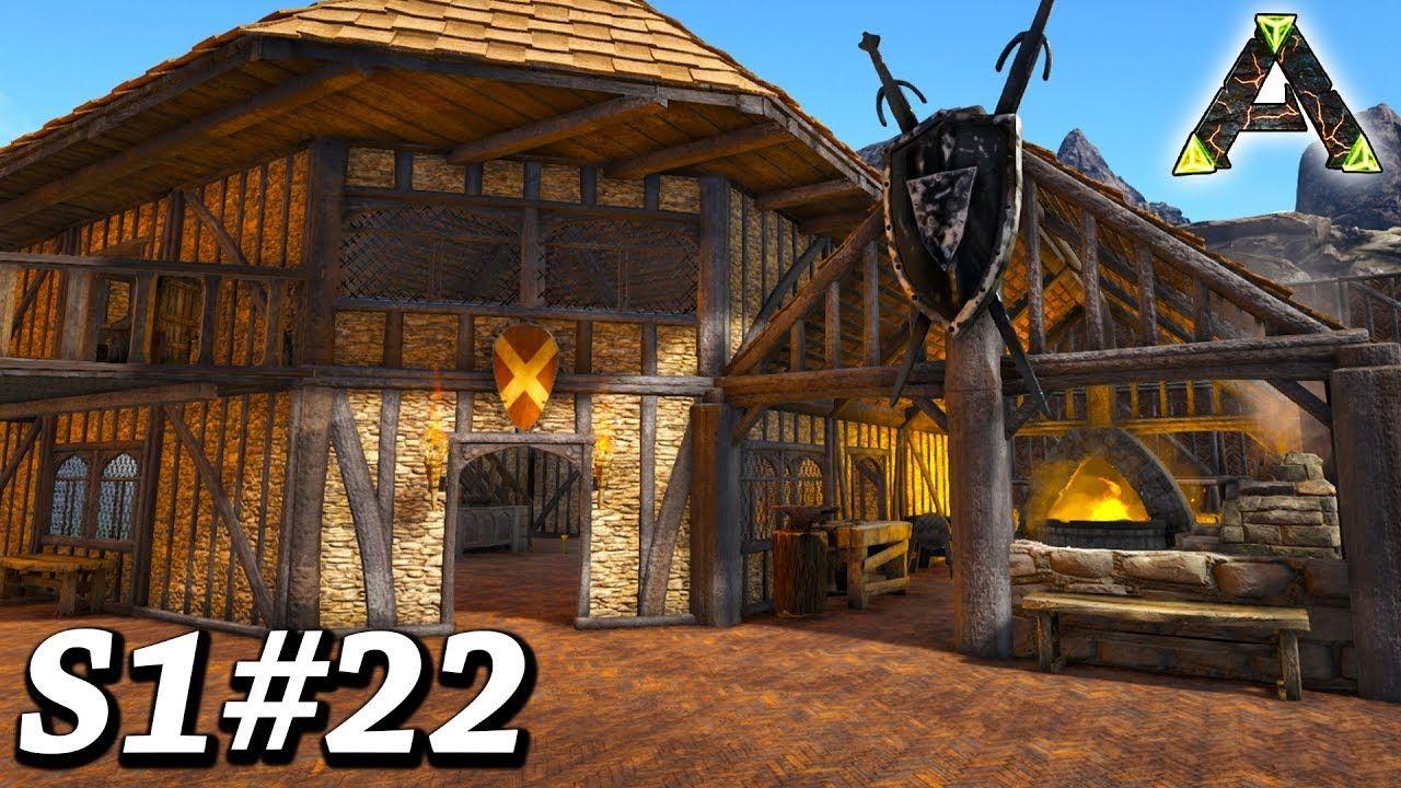 Ark Blacksmith Build Crafting Room Ark Survival Evolved