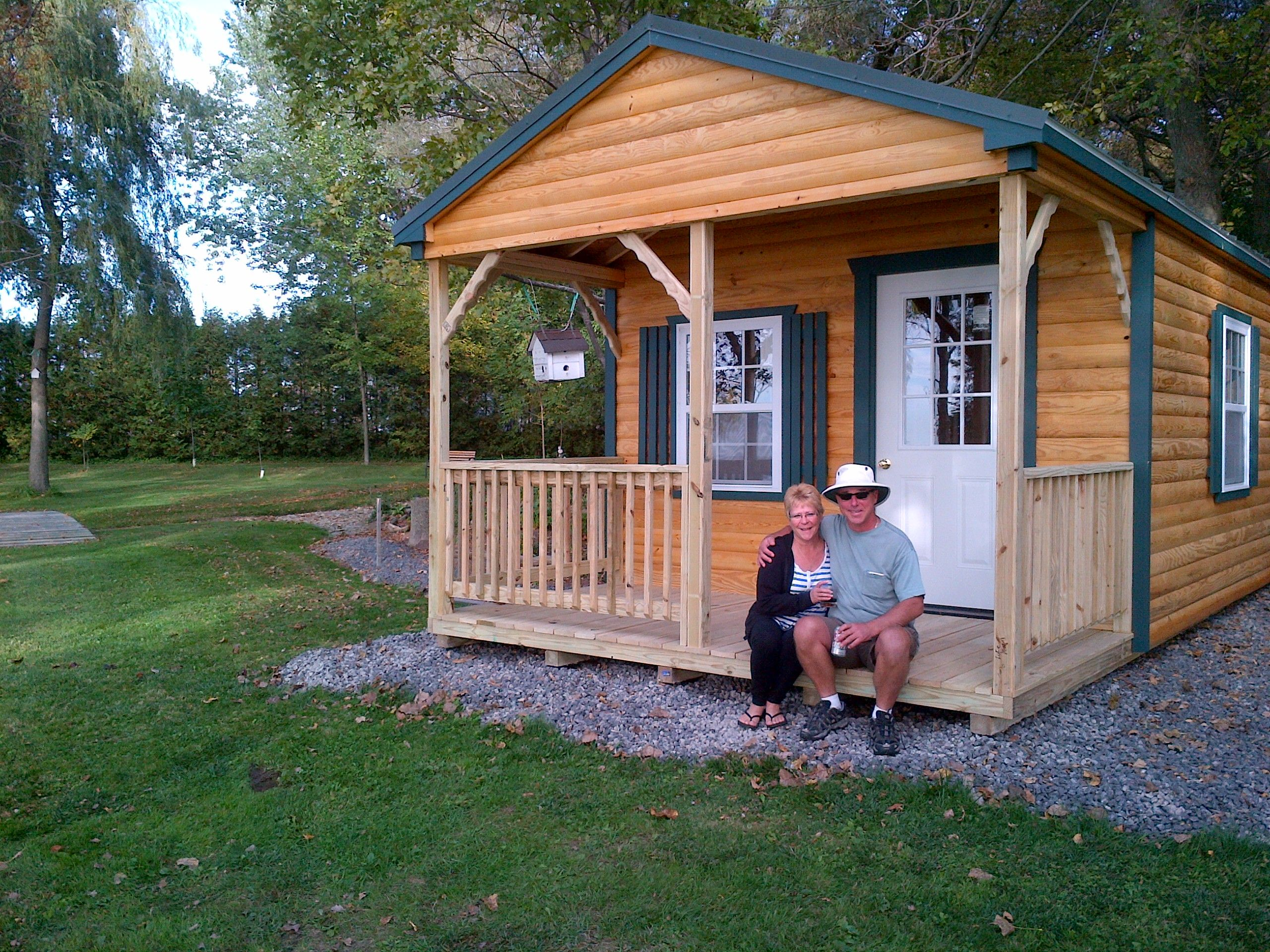 Our Cabins can be delivered fully assembled and ready for ...