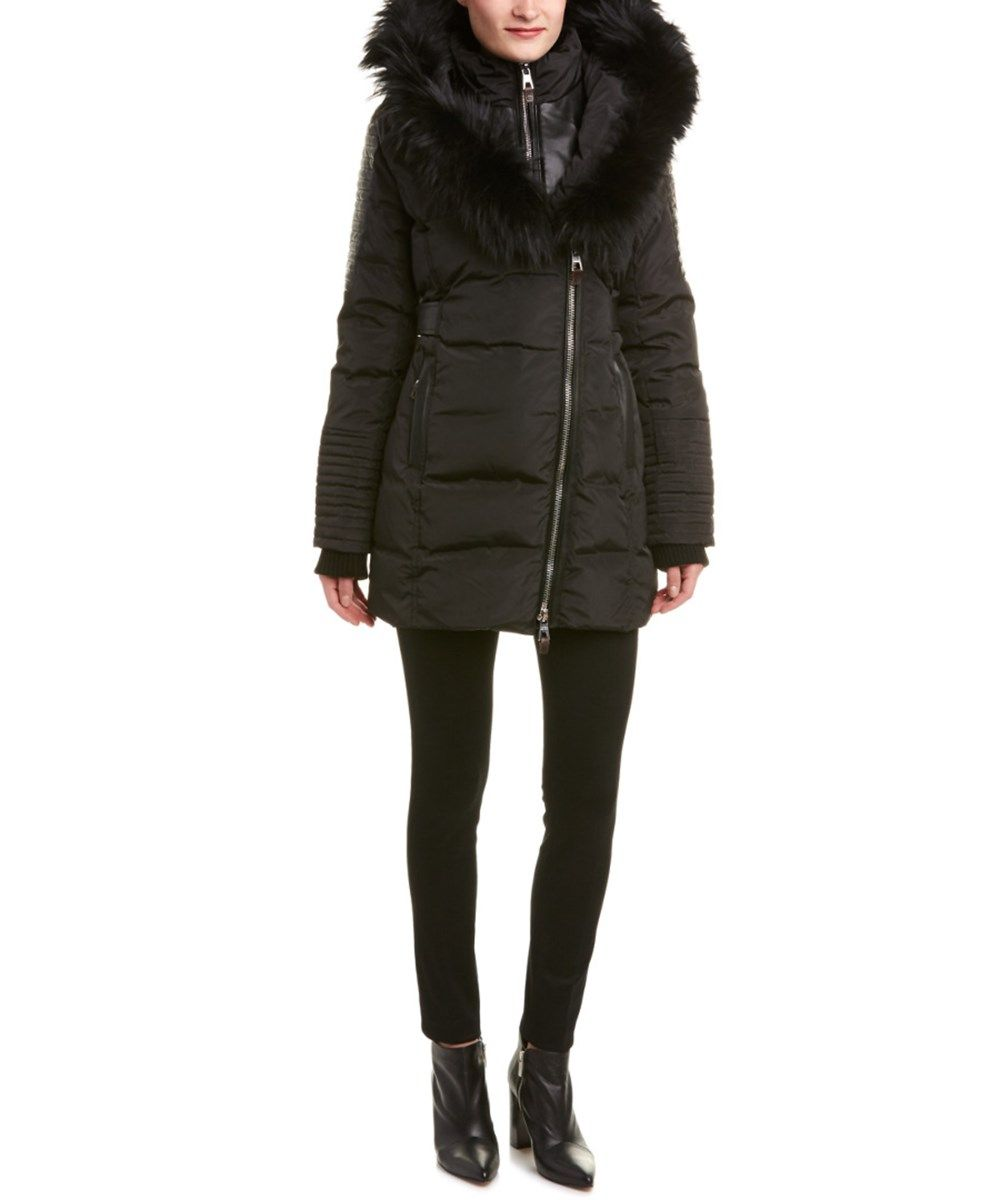Nicole Benisti Belted Down Coat In Black Modesens Down Coat Winter Coats Women Winter Coats Jackets [ 1200 x 1000 Pixel ]