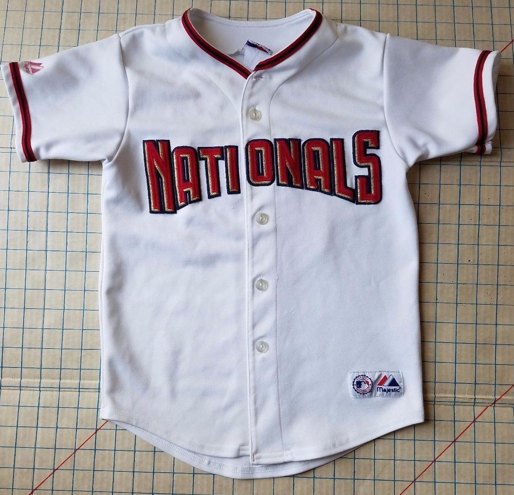 0e2369ef6 Washington Nationals MLB Jersey Sewn On Nick Johnson 24 Majestic Baseball  Youth  Majestic  WashingtonNationals